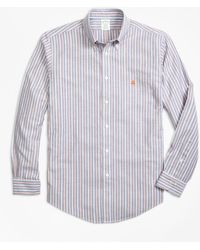 Brooks Brothers - Non-iron Milano Fit Stripe Sport Shirt - Lyst