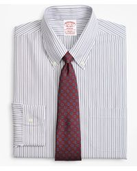 Brooks Brothers - Stretch Madison Classic-fit Dress Shirt, Non-iron Alternating Triple Stripe - Lyst