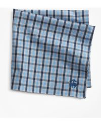 Brooks Brothers - Supima® Cotton Heathered Check Pocket Square - Lyst