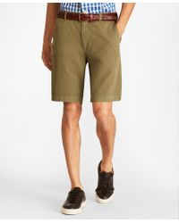 f6e1b75f36 Brooks Brothers Linen And Cotton Bermuda Shorts in Red for Men - Lyst