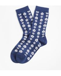 Brooks Brothers - Floral-patterned Socks - Lyst
