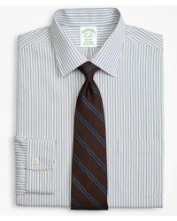 Brooks Brothers - Milano Slim-fit Dress Shirt, Non-iron Framed Stripe - Lyst