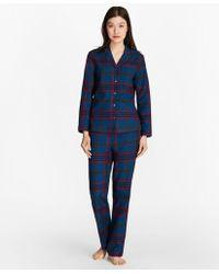 Brooks Brothers - Tartan Cotton Flannel Pyjama Set - Lyst