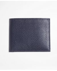 Brooks Brothers - Pebble Leather Euro Wallet With Coin Case - Lyst