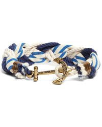 Brooks Brothers | Kiel James Patrick Stripe Braided Bracelet | Lyst