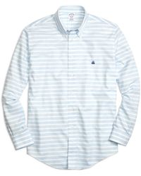 Brooks Brothers - Non-iron Regent Fit Horizontal Stripe Sport Shirt - Lyst