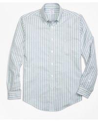 Brooks Brothers - Non-iron Regent Fit Stripe Sport Shirt - Lyst