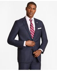Brooks Brothers - Regent Fit Blue Windowpane 1818 Suit - Lyst