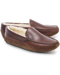 Brooks Brothers - Shearling Slippers - Lyst