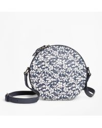 Brooks Brothers - Floral-print Saffiano Leather Cross-body Bag - Lyst