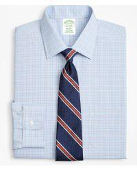 Brooks Brothers - Milano Slim-fit Dress Shirt, Non-iron Plaid Framed Overcheck - Lyst