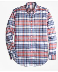 Brooks Brothers - Madison Fit Oxford Madras Plaid Sport Shirt - Lyst