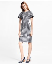 Brooks Brothers - Gingham Double-weave Sheath Dress - Lyst