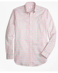 Brooks Brothers - Madison Fit Oxford Large Check Sport Shirt - Lyst