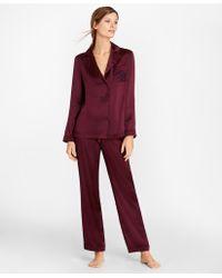 Brooks Brothers - Silk-satin Pajama Set - Lyst