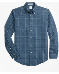 Brooks Brothers - Milano Fit Indigo Glen Plaid Sport Shirt - Lyst
