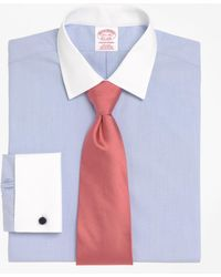 Brooks Brothers | Non-iron Traditional Fit Ainsley Collar French Cuff Dress Shirt | Lyst