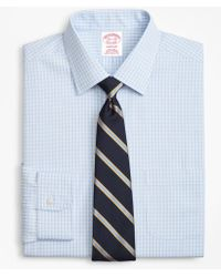 Brooks Brothers - Madison Classic-fit Dress Shirt, Non-iron Triple Check - Lyst