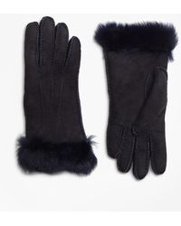 Brooks Brothers - Shearling Gloves - Lyst
