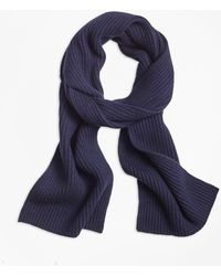 Brooks Brothers - Ribbed Cashmere Scarf - Lyst