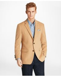 6d4ca697c42 Lyst - Brooks Brothers Cambridge Camel Hair Patch Pocket Jacket in ...
