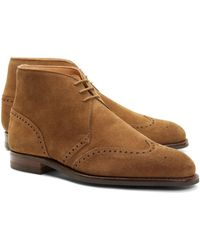 Brooks Brothers - Peal & Co.® Suede Wingtip Boots - Lyst