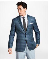 Brooks Brothers - Regent Fit Teal Plaid Sport Coat - Lyst