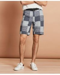 Brooks Brothers - Cotton Patchwork Shorts - Lyst