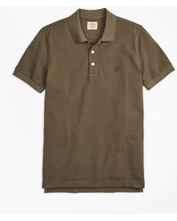 Brooks Brothers - Garment-dyed Cotton Pique Polo Shirt - Lyst