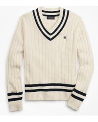 Brooks Brothers - Tennis V-neck Sweater - Lyst