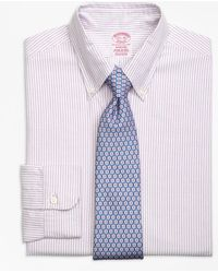 Brooks Brothers - Madison Fit Original Polo® Button-down Oxford Bengal Stripe Dress Shirt - Lyst