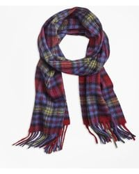 Brooks Brothers - Plaid Cashmere Scarf - Lyst