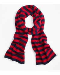 Brooks Brothers - Striped Wool Scarf - Lyst
