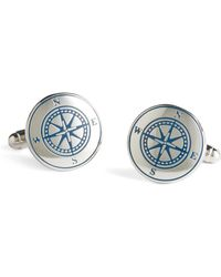 Brooks Brothers | Sterling Silver Compass Cuff Links | Lyst