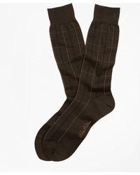 Brooks Brothers - Two-color Windowpane Crew Socks - Lyst