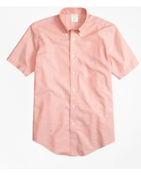 Brooks Brothers - Non-iron Brookscool® Milano Fit Short-sleeve Sport Shirt - Lyst