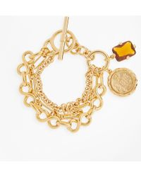 Brooks Brothers - Gold-plated Three-layer Chain Charm Bracelet - Lyst