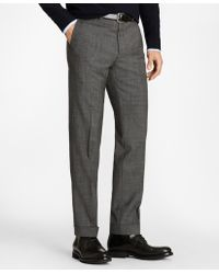 Brooks Brothers - Regent Fit Wool And Mohair Check Trousers - Lyst