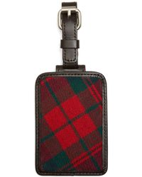 Brooks Brothers - Red And Navy Plaid Luggage Tag - Lyst