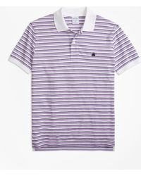 Brooks Brothers - Slim Fit Supima® Oxford Stripe Polo Shirt - Lyst