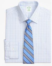 Brooks Brothers - Milano Slim-fit Dress Shirt, Non-iron Tonal Check Windowpane - Lyst