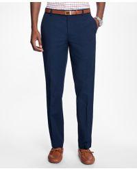 Brooks Brothers - Milano Fit Supima® Cotton Poplin Pants - Lyst