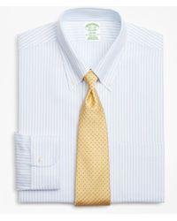 Brooks Brothers - Brookscool® Milano Slim-fit Dress Shirt, Non-iron Stripe - Lyst