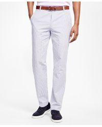 Brooks Brothers | Milano Fit Seersucker Pants | Lyst