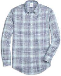 Brooks Brothers - Regent Fit Glen Plaid Linen Sport Shirt - Lyst