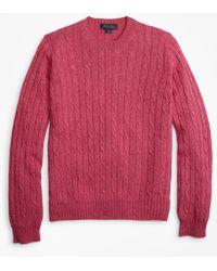 Brooks Brothers - Golden Fleece® 3-d Knit Cable Crewneck Jumper - Lyst