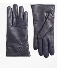 Brooks Brothers - Topstitched Cashmere-lined Leather Gloves - Lyst