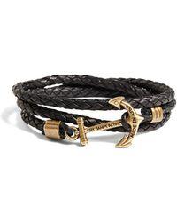Brooks Brothers - Kiel James Patrick Leather Wrap Bracelet - Lyst