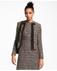 Brooks Brothers - Grosgrain-trimmed Boucle Jacket - Lyst
