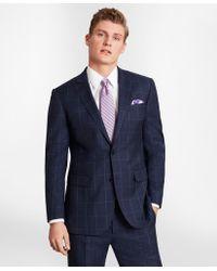 Brooks Brothers - Brooksgatetm Milano-fit Windowpane Wool Twill Suit Jacket - Lyst